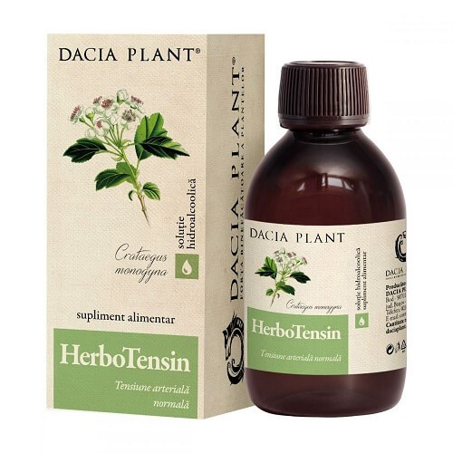HerboTensin tinctura - Dacia Plant, 50 ml (Reglarea tensiunii arteriale) - kozossegikartya.ro