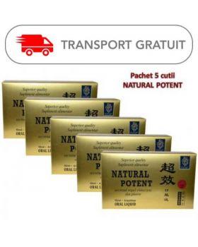 Natural Potent 6 fiole ( pachet 5 cutii - TRANSPORT GRATUIT )