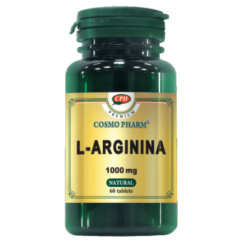 L arginina 1000 mg, 60 tablete, Cosmopharm (potenta)