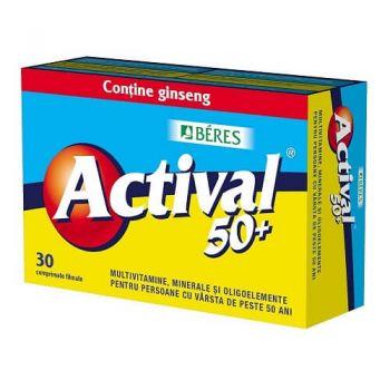 Actival 50+, 30 comprimate, Beres Pharmaceuticals