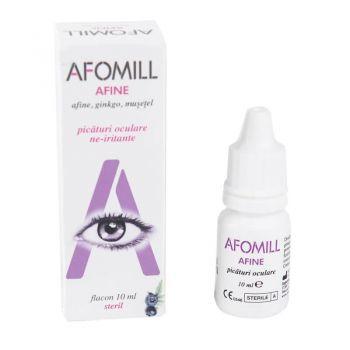 Afomill fortifiant afine picaturi oculare, 10 ml, Af United (mov)