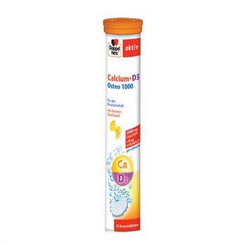 Calciu + Vitamina D3 Osteo 1000, 15 cpr efervescente, Doppelherz