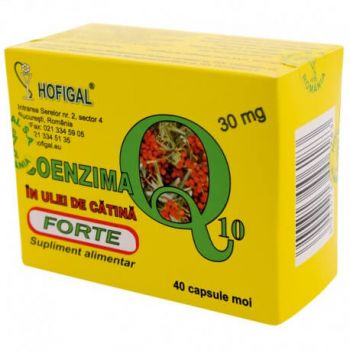 Coenzima Q10 în ulei de catina 30 mg, 40 capsule, Hofigal
