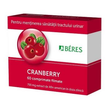 Cranberry, 60 comprimate, Beres Pharmaceuticals
