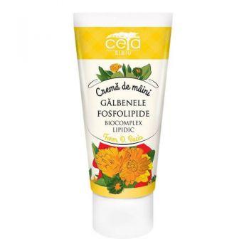 Crema de maini cu extract de galbenele si fosfolipide, 50 ml