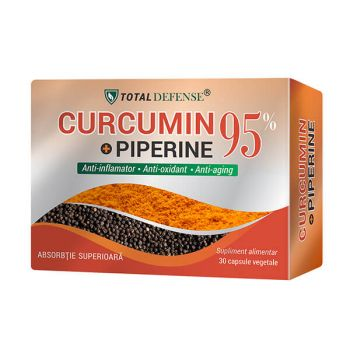 Curcumin + Piperine 95%, 30 capsule, Cosmopharm