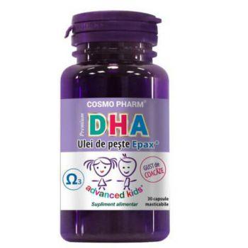 DHA Premium, 30 capsule masticabile, Cosmopharm