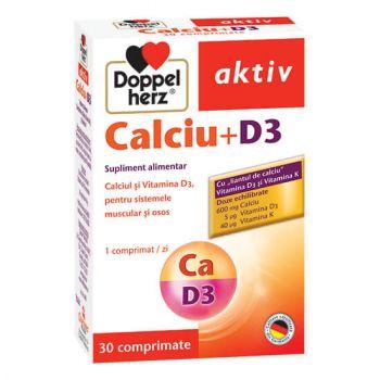 Calciu + D3, 30 comprimate, Doppelherz