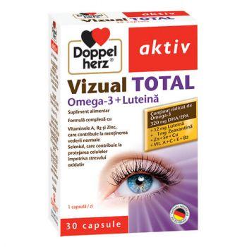 Vizual Total + Omega 3 si Luteina, 30 capsule, Doppelherz