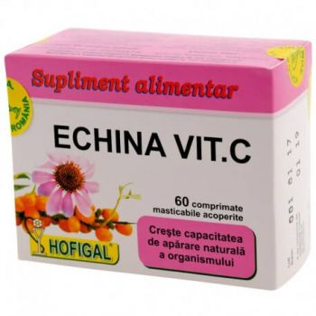 Echina Vitamina C, 60 comprimate, Hofigal