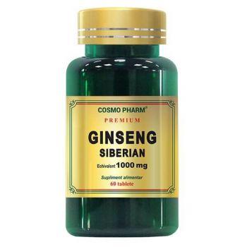 Ginseng Siberian, 60 tablete Premium, Cosmopharm