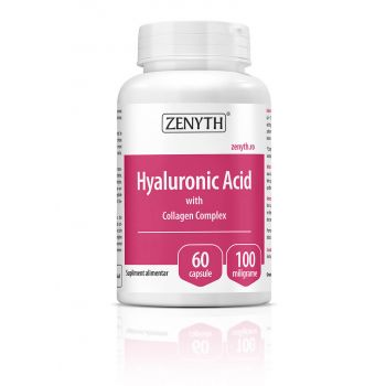 Hyaluronic Acid cu Collagen Complex, 30 capsule, Zenyth