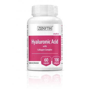 Hyaluronic Acid cu Collagen Complex, 60 capsule, Zenyth