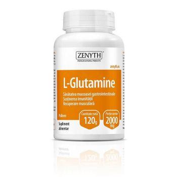 L-glutamina pulbere, 120 g, Zenyth