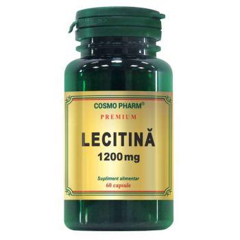 Lecitina 1200 mg, 60 capsule Premium, Cosmopharm
