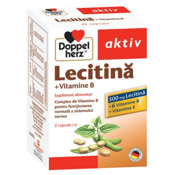 Lecitina + Vitamina B, 40 capsule, Doppelherz