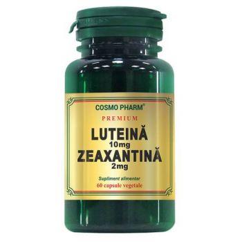 Luteina 10mg Zeaxantina 2mg, 60 capsule Premium, Cosmopharm