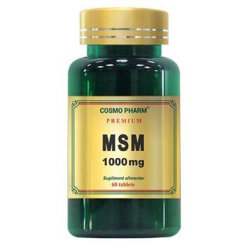 MSM 1000 mg, 60 tablete Premium, Cosmopharm