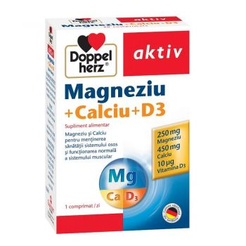 Magneziu Calciu D3, 30 comprimate, Doppelherz