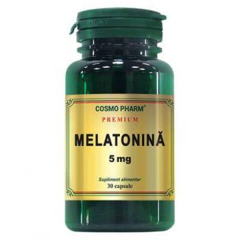 Melatonina 5 mg, 30 capsule Premium, Cosmopharm