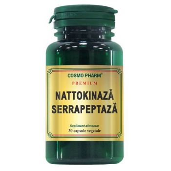 Nattokinaza Serrapeptaza, 30 capsule, Cosmopharm