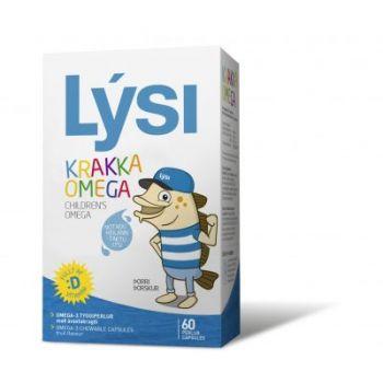Omega 3 pentru copii, 60 capsule masticabile, Lysi