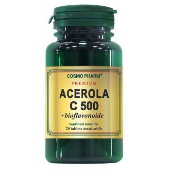 Premium Acerola C 500 mg + bioflavonoide, 20 tablete, Cosmopharm