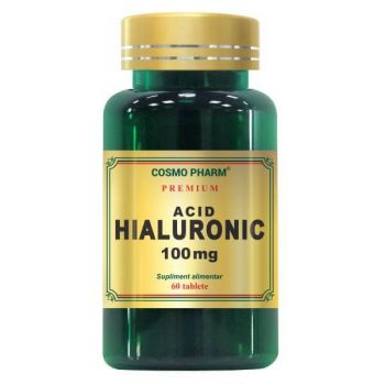 Premium Acid hialuronic 100 mg, 60 tablete, Cosmopharm