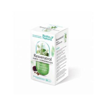 Resveratrol Forte + Coenzima Q10, 30 capsule, Rotta Natura