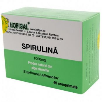 Spirulina 1000mg, 40 comprimate, Hofigal