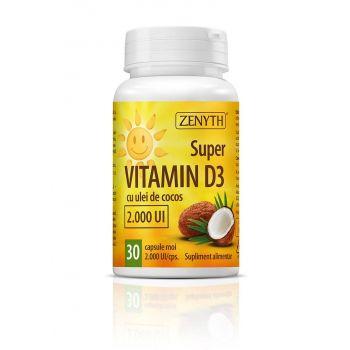 Super Vitamin D3, 2000 UI, 30 cps, Zenyth
