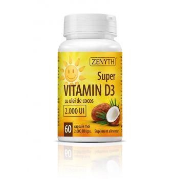 Super vitamina D3 (2.000 UI), 60 capsule, Zenyth