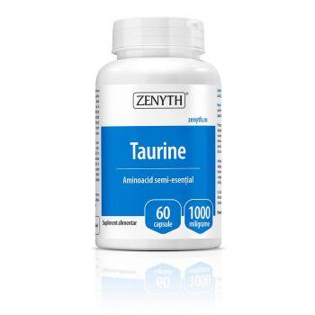 Taurine 1000 mg, 60 capsule, Zenyth