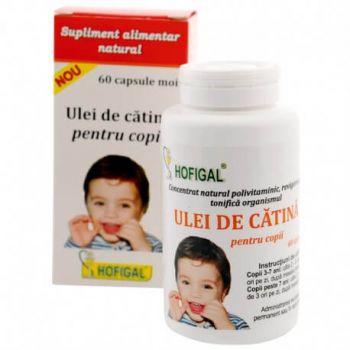 Ulei de Catina pentru copii, 60 capsule, Hofigal