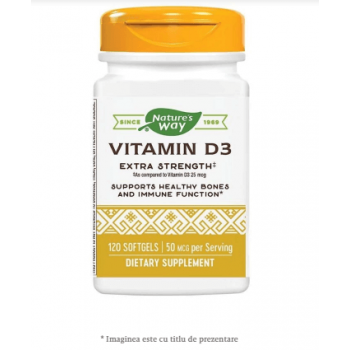 Vitamina D3 2000 UI, 120 capsule, Secom
