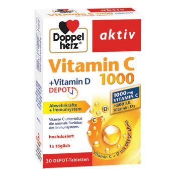Vitamina C 1000 + Vitamina D, 30 comprimate, Doppelherz