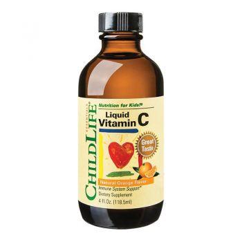 Vitamina C pentru copii Secom, 118.50 ml, Childlife Essentials