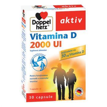 Vitamina D 2000 UI, 30 capsule, Doppelherz