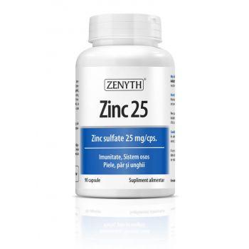 Zinc 25 sulfat de zinc, 90 capsule, Zenyth