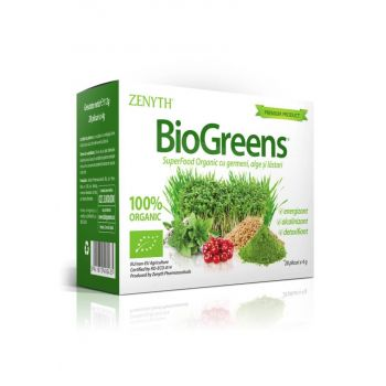 BioGreens SuperFood Organic cu germeni, 28 plicuri, Zenyth