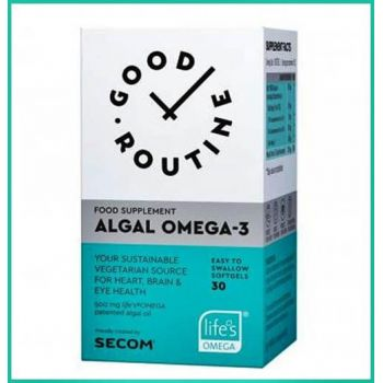 Algal Omega-3 Secom, 30 capsule, Good Routine