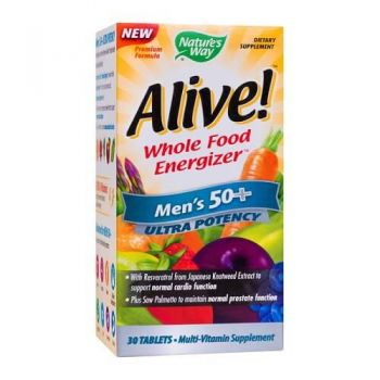 Alive Once Daily Mens 50+, 30 tablete, Secom