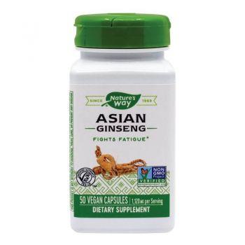 Asian Ginseng (560 mg) Secom, 50 capsule - Nature's Way