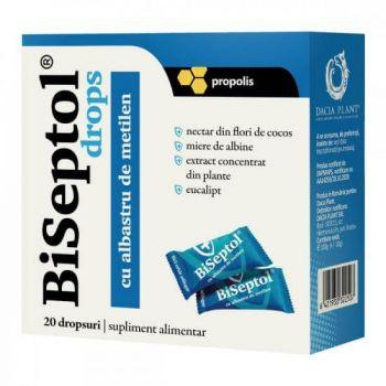 BiSeptol drops propolis si albastru de metilen, 20 bucati, Dacia Plant