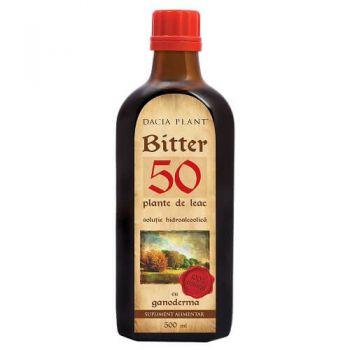 Bitter 50 de plante cu Ganoderma, 500 ml, Dacia Plant