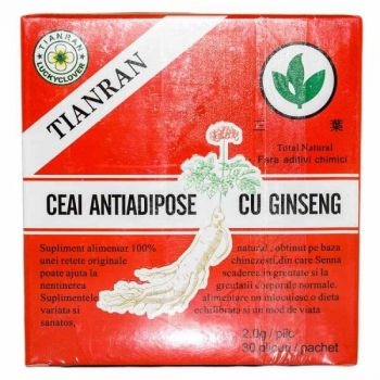 Ceai Antiadipos cu Ginseng, 30 buc, Sanye