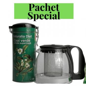 Ceai Verde superior 100gr + ceainic 1250ml