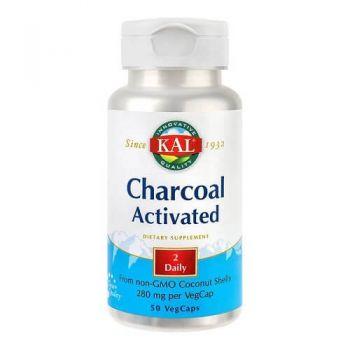 Charcoal Activated (Carbune medicinal) 280 mg Secom, 50 cps