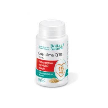 Coenzima Q10 (15 mg), 30 capsule, Rotta Natura