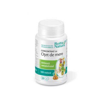 Concentrat de otet de mere, 90 capsule, Rotta Natura